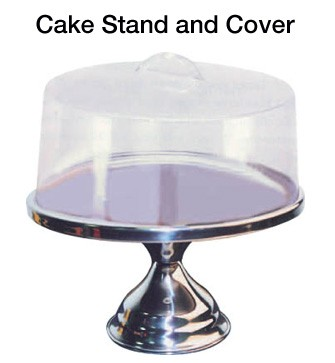 Stainless Cake Stand With Cover - 13