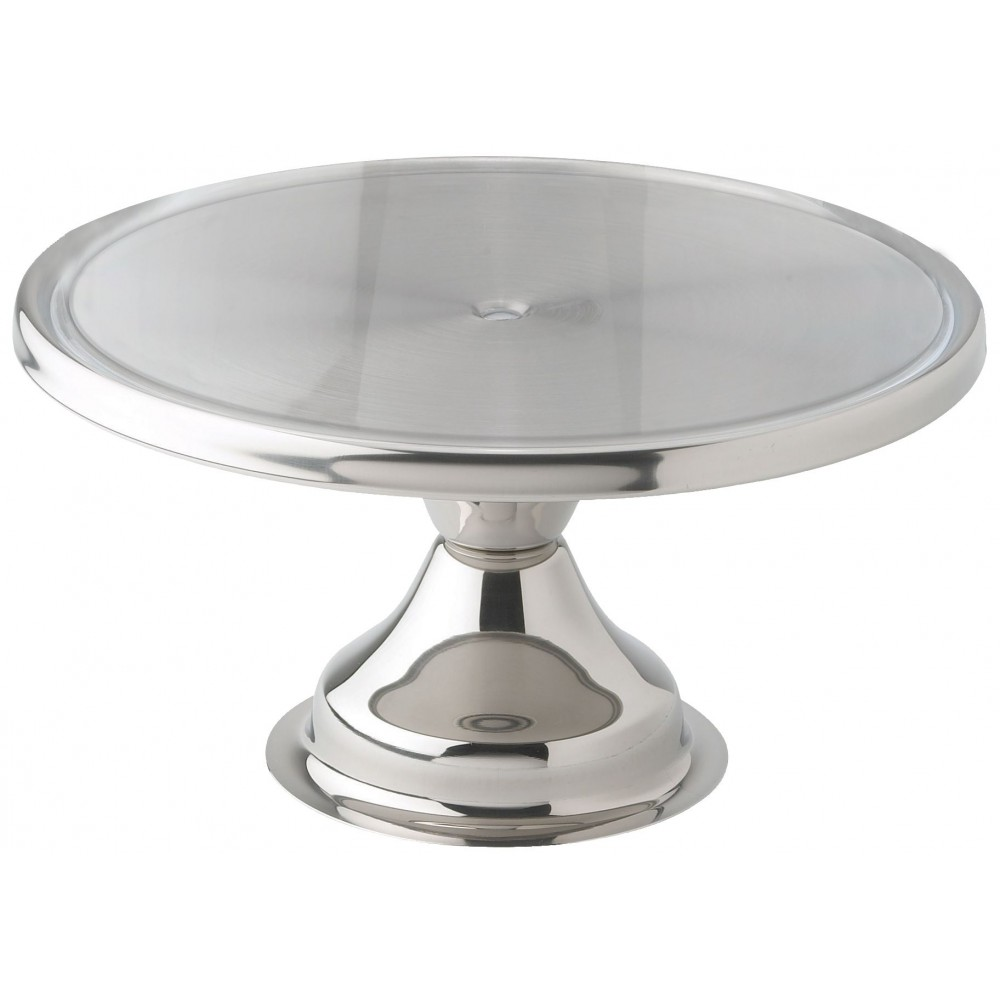 Winco CKS-13 Stainless Steel Round Cake Stand, 13""