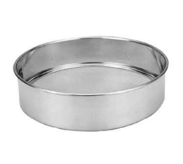 """Franklin Machine Products  137-1047 Stainless Round Sieve with No. 20 Mesh 12"""" Dia. x 3""""H"""