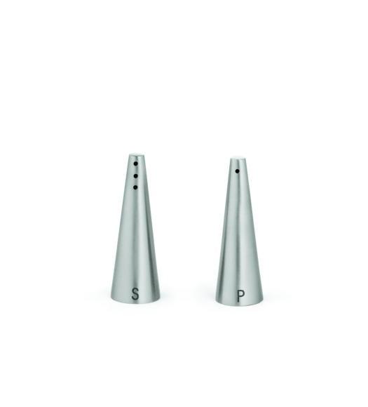 TableCraft 169 Stainless Steel 1 oz. Conical Salt & Pepper Shaker Set