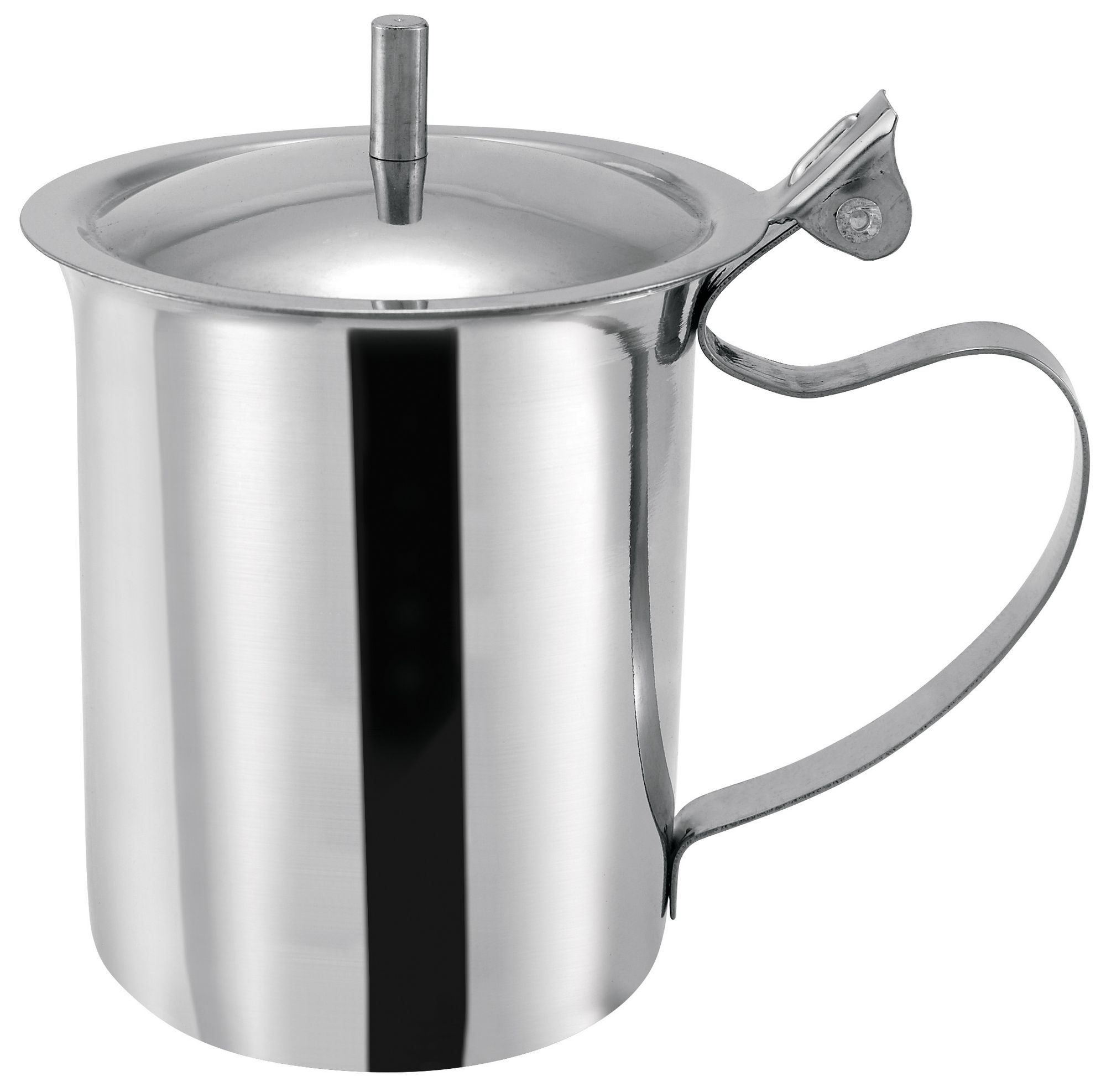 Winco sct-10 Stainless Steel 10 oz. Server/Creamer with Cover