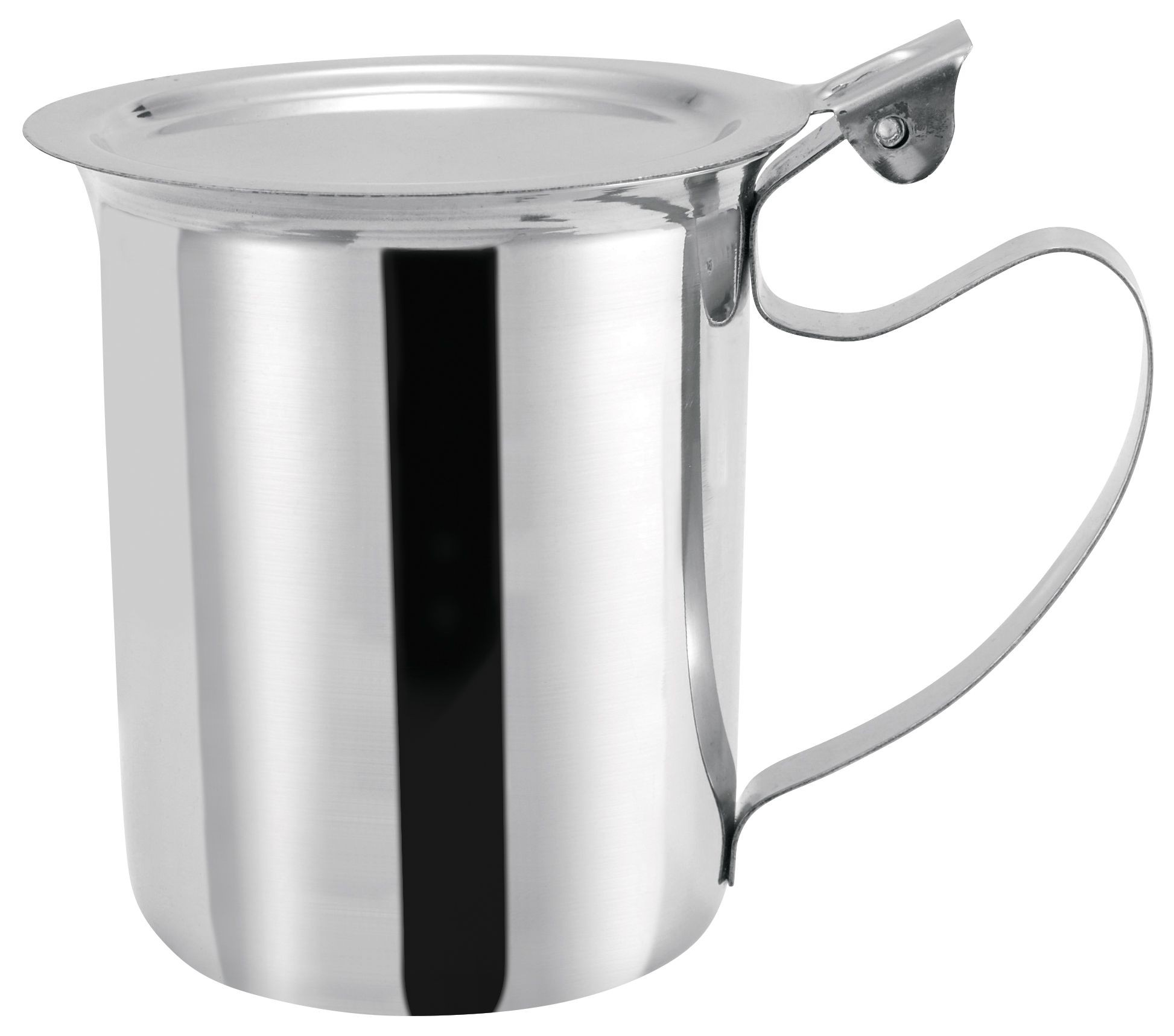 Winco SCT-10F Stainless Steel 10 oz. Stackable Server/Creamer with Cover