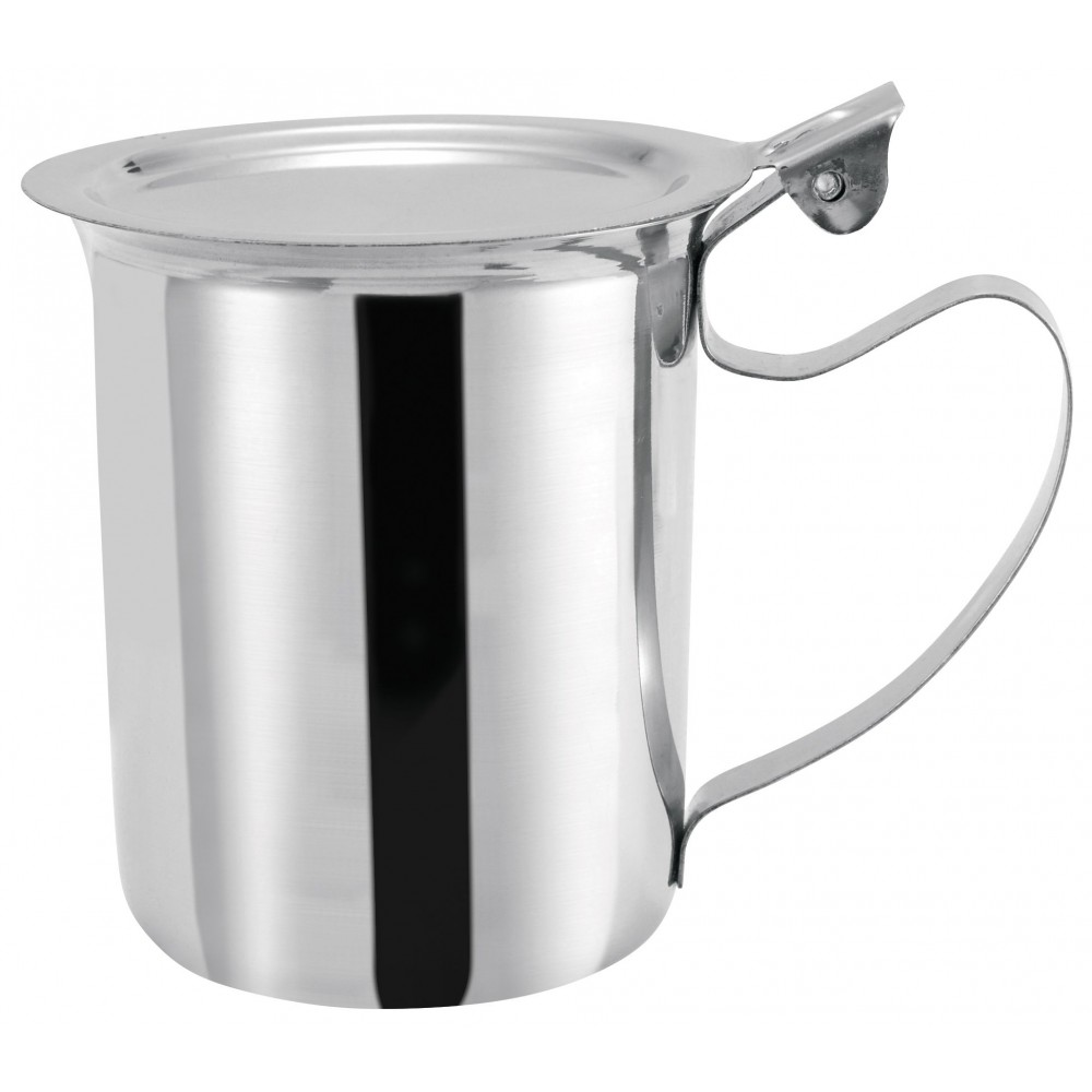 Stainless Steel 10 Oz. Stacking Server/Creamer With Cover