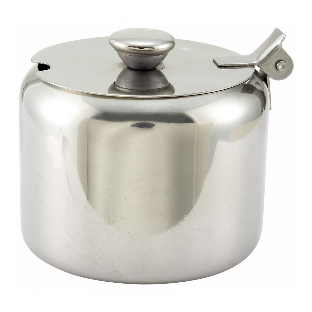 Winco t-710 Stainless Steel 10 oz. Sugar Bowl Can with Cover