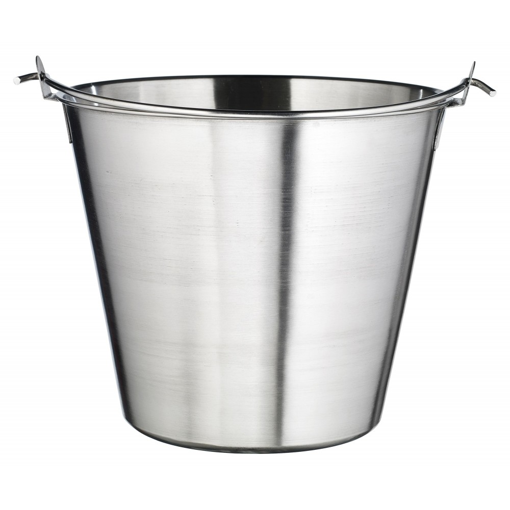 Winco UP-13 Stainless Steel 13 Qt. Utility Pail