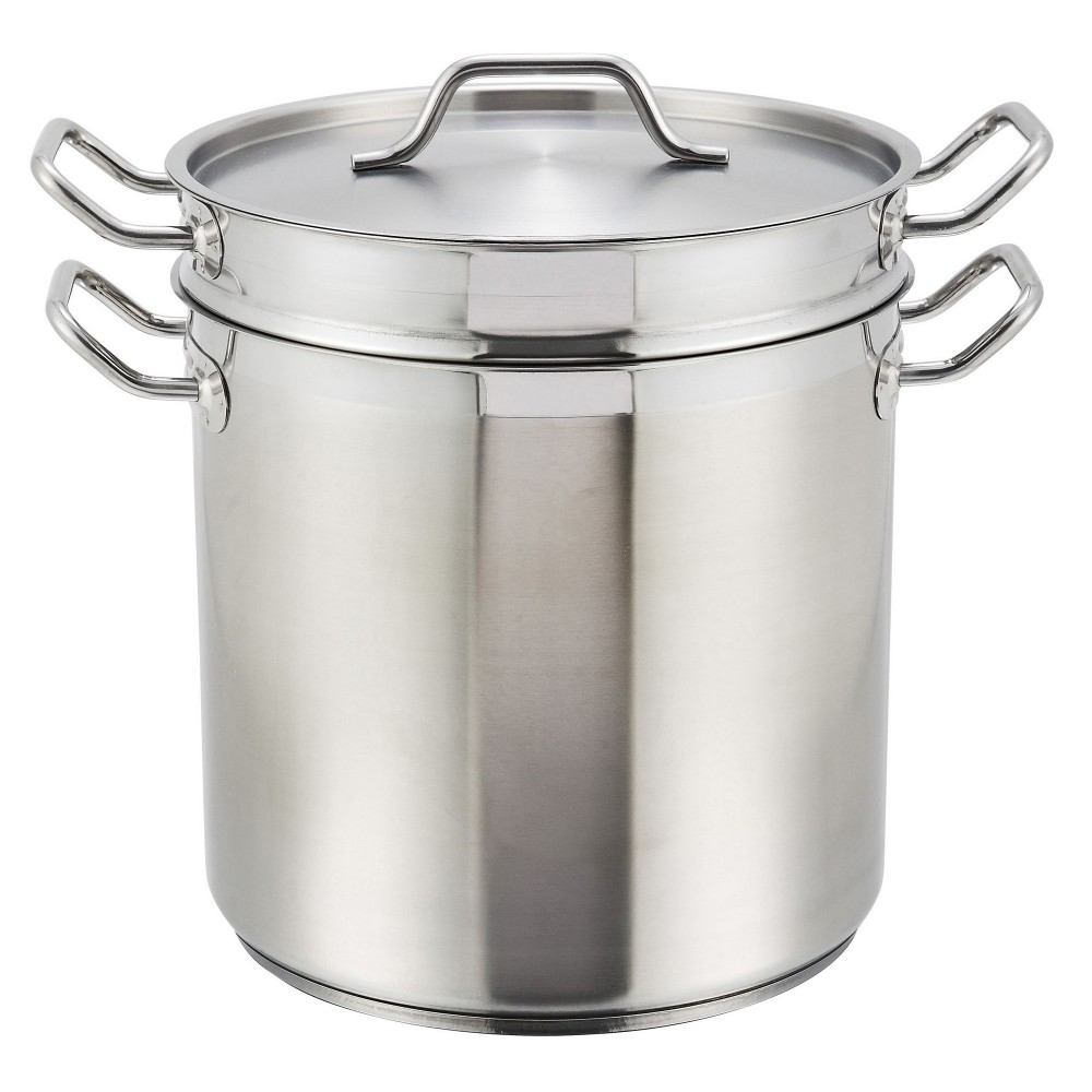 Stainless Steel 16-Qt Master Cook Double Boiler With Cover (5 mm aluminum core NSF)