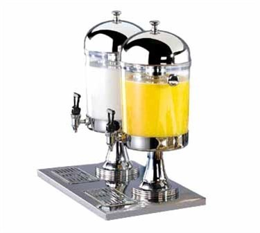 Stainless Steel 2.1 Gallon Double Beverage Dispenser