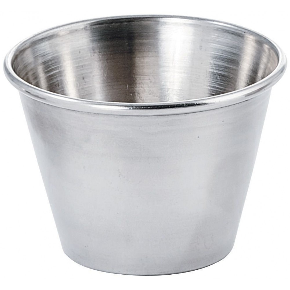 Winco scp-25 Stainless Steel 2.5 oz. Sauce Cup