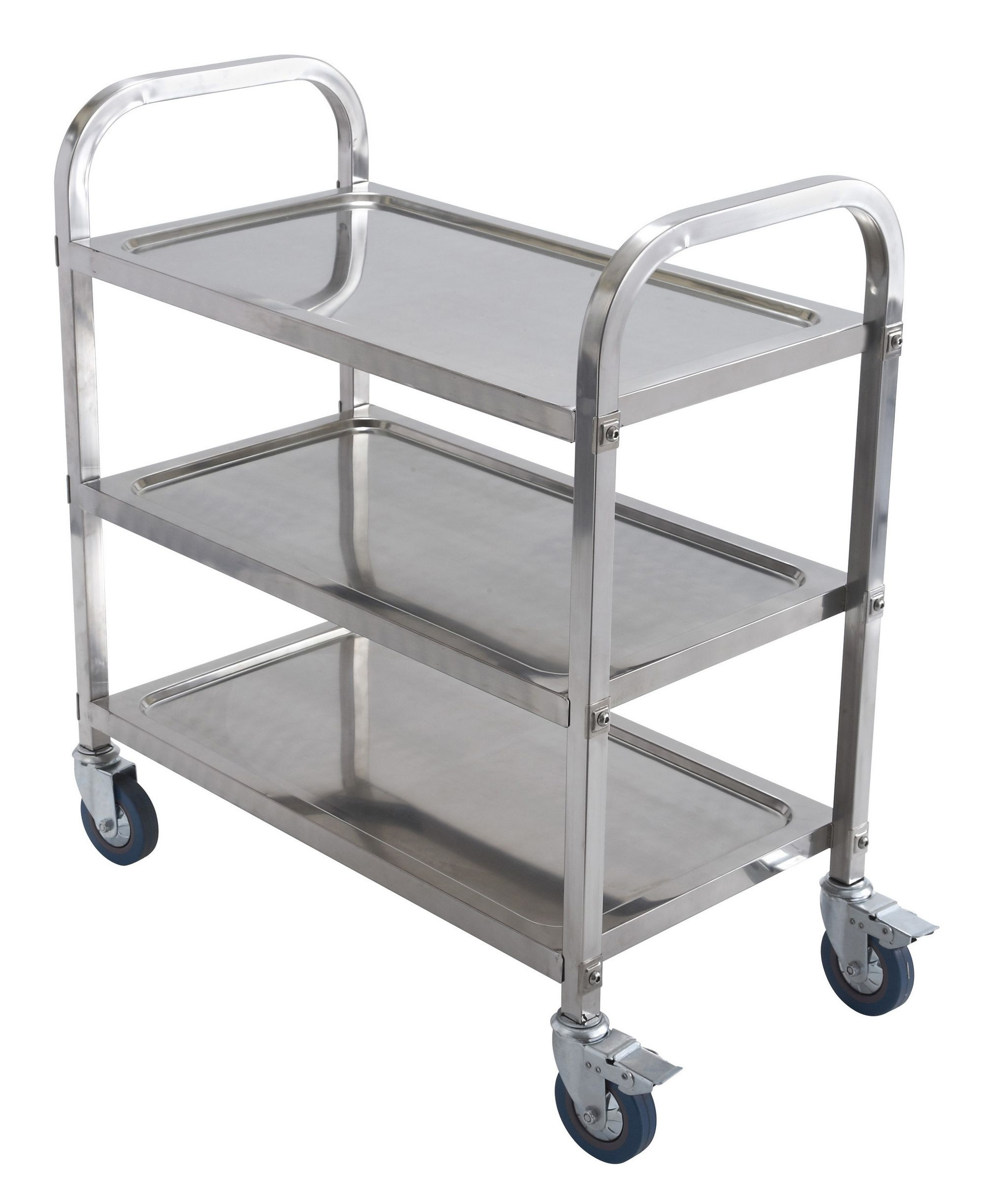 "Winco SUC-30 Stainless Steel 3-Tier Utility Cart 27-3/5"" x 15-9/10"" x 33-1/2"""