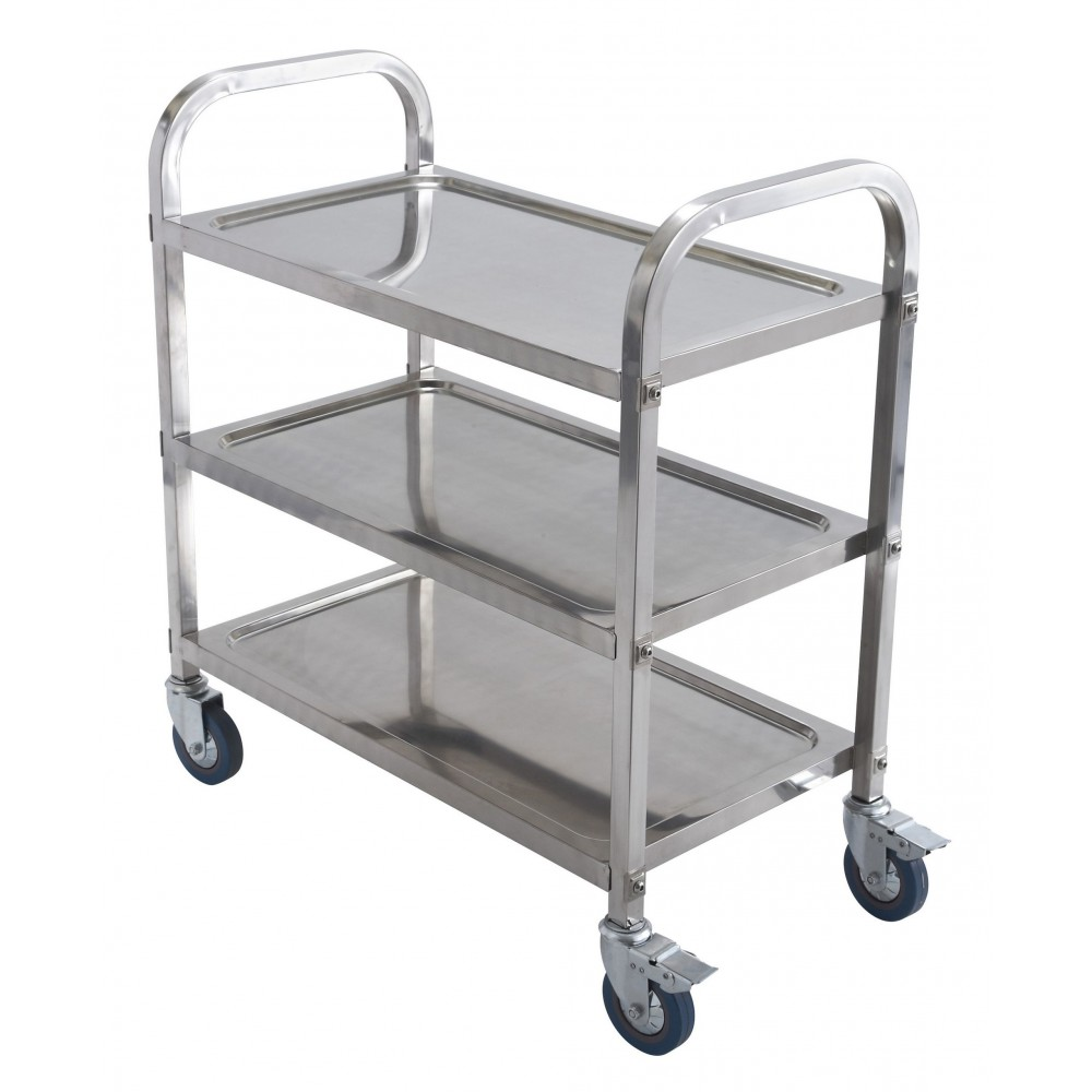 Stainless Steel 3-Level Utility Cart- 27-1/2 X 16 X 27-1/2