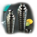 TableCraft BH377 Stainless Steel 3-Piece 24 oz. Beehive Bar Shaker