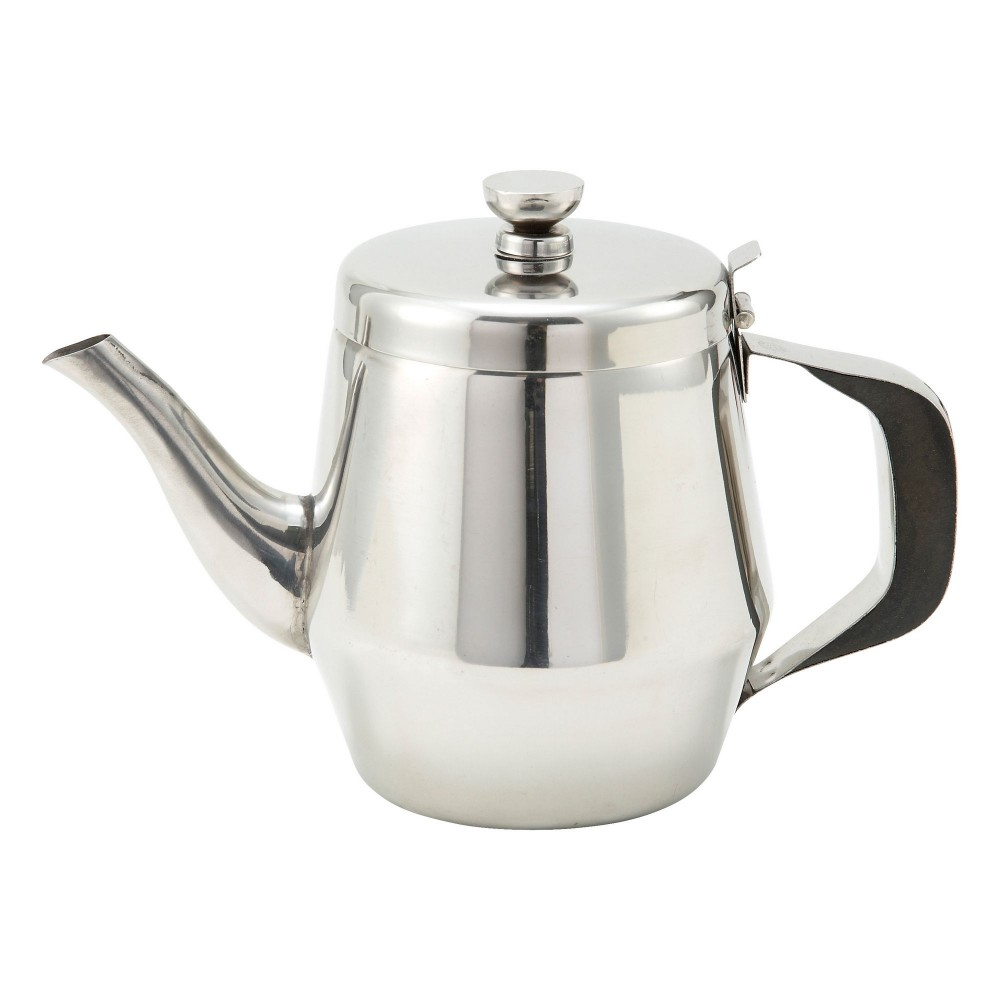 Winco JB2932 Stainless Steel 32 oz. Gooseneck Teapot with Handle