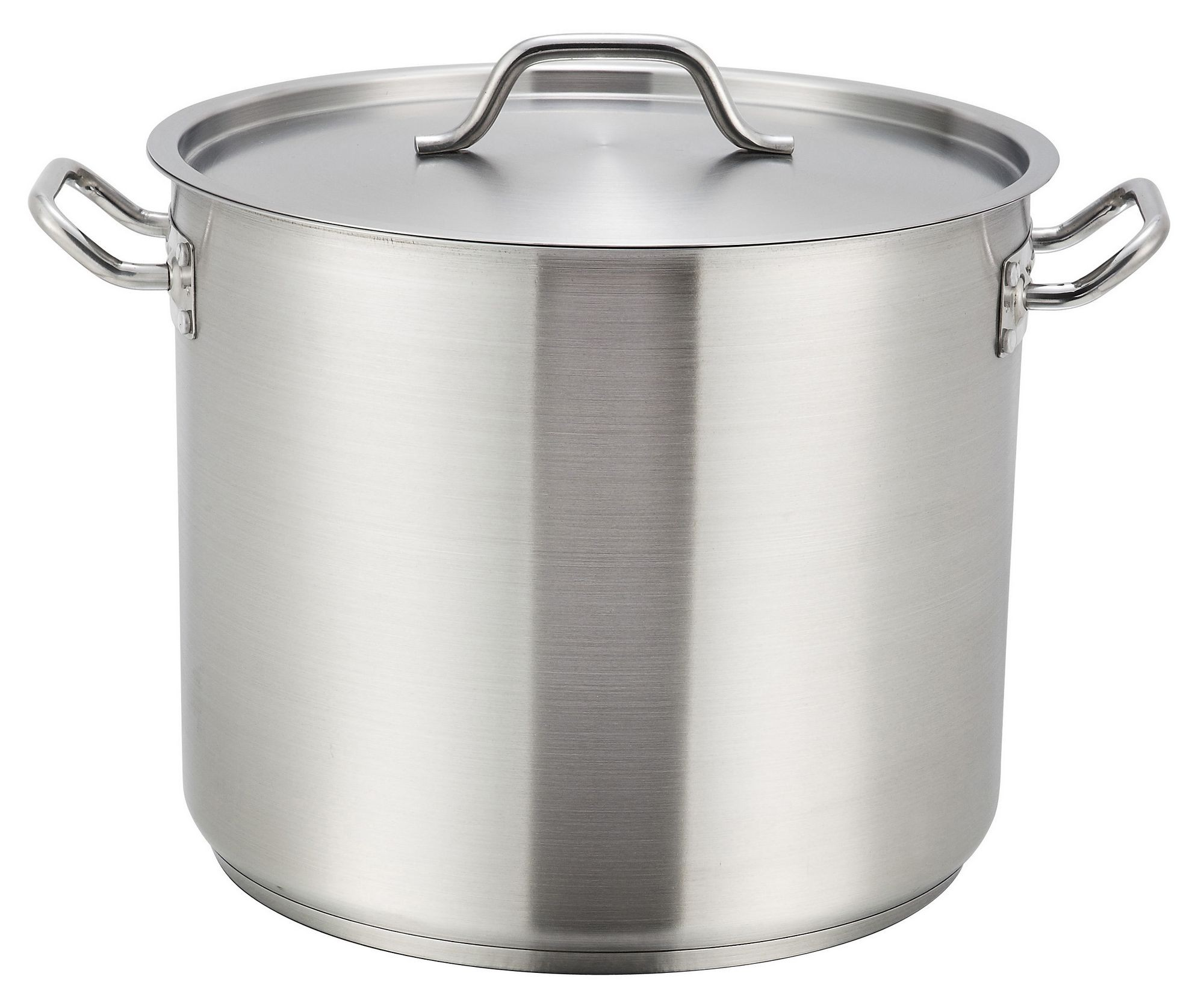 Winco SST-32 Premium Induction Stainless Steel 32 Qt. Stock Pot