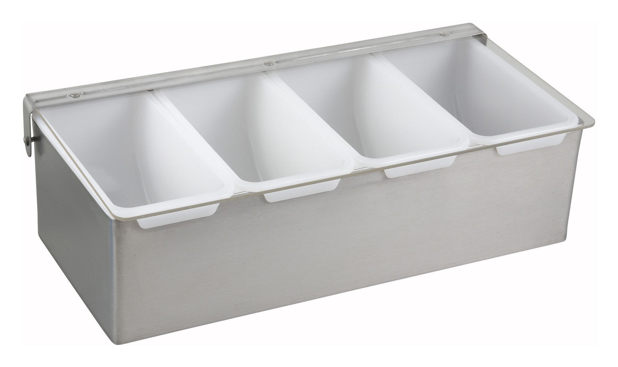 Winco CDP-4 Stainless Steel 4-Compartment Condiment Caddy