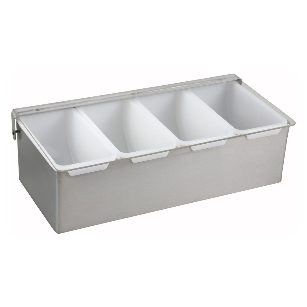 Stainless Steel 4-Compartment Condiment Caddy