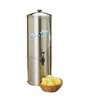 Stainless Steel 5 Gallon Iced Tea Dispenser With Tomlinson Faucet