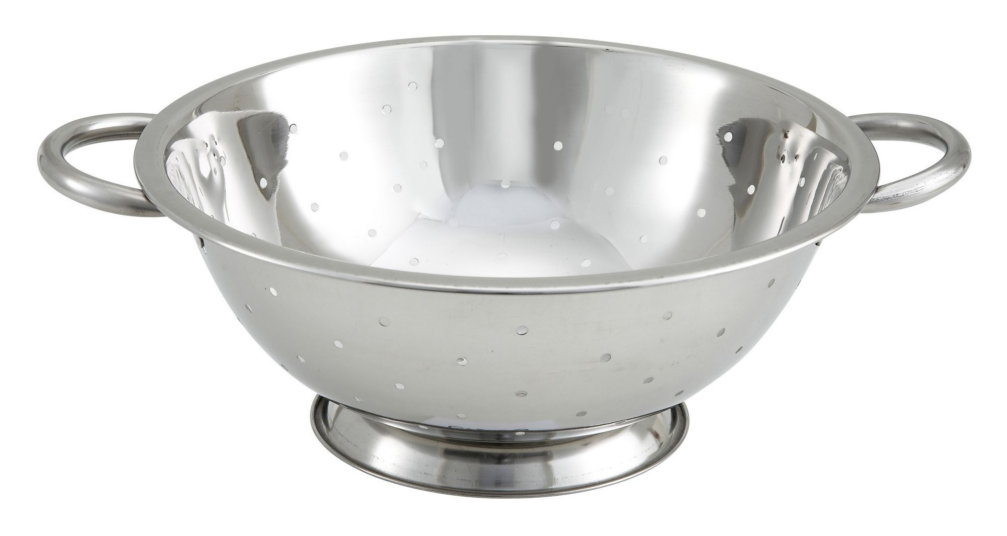 Winco COD-5 Stainless Steel 5 Qt. Colander 12""