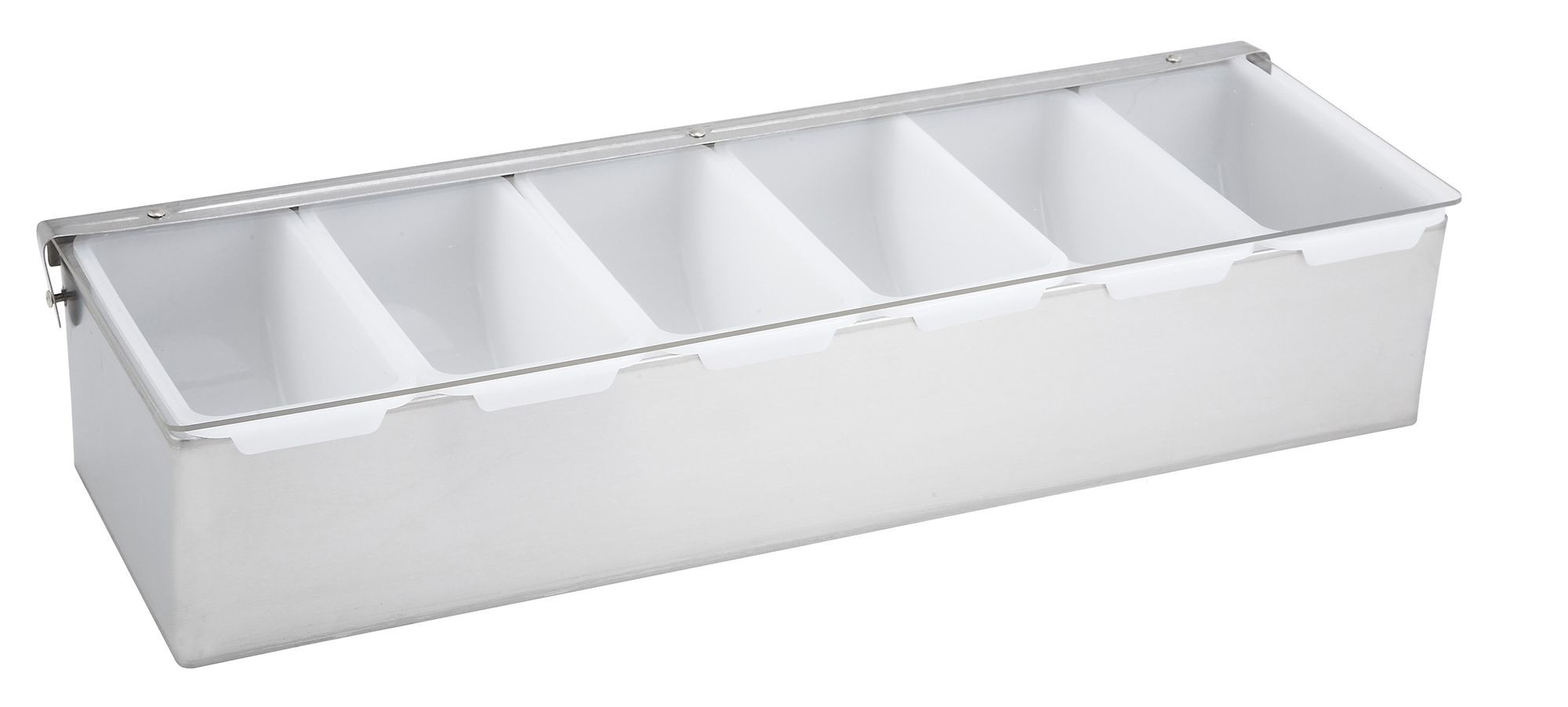 Winco CDP-6 Stainless Steel 6-Compartment Condiment Caddy