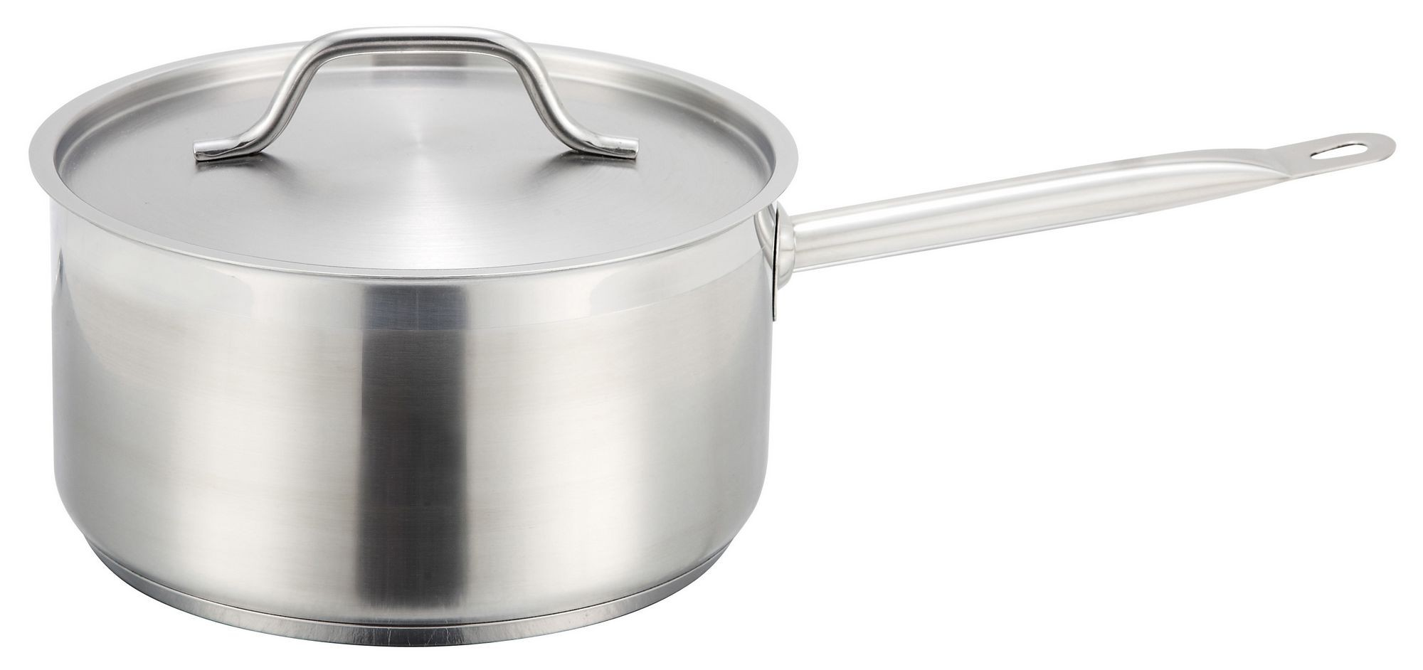 Winco SSSP-6 Premium Induction Stainless Steel 6 Qt. Sauce Pan with Cover