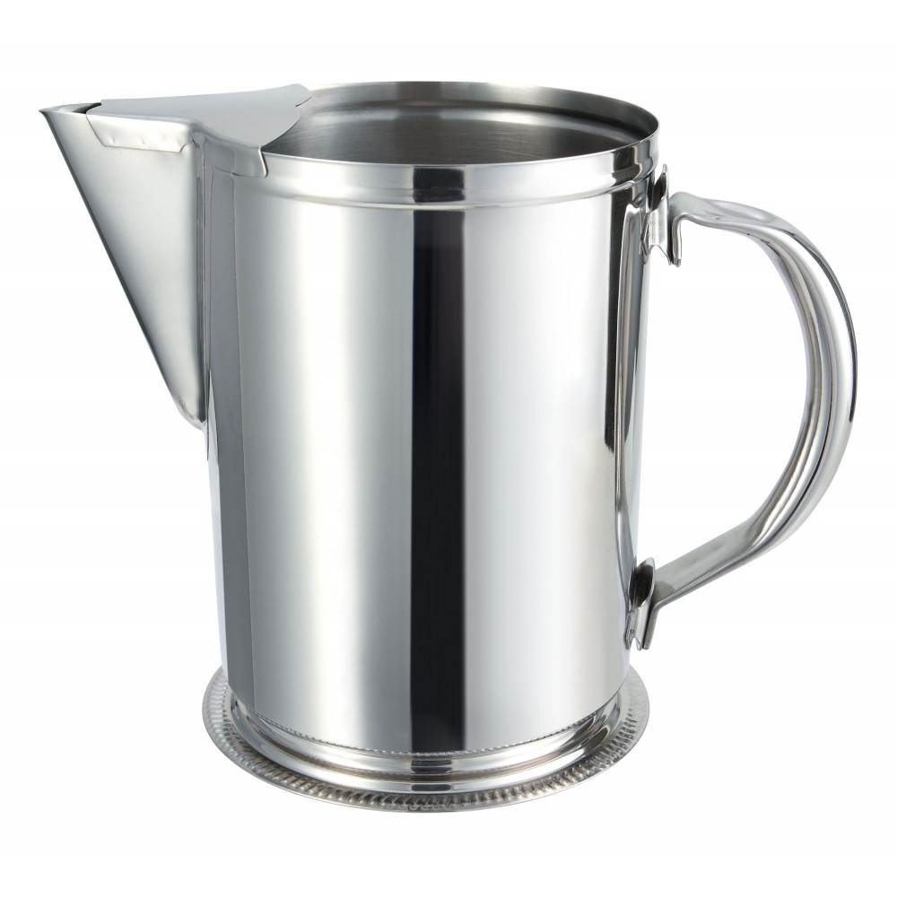 Stainless Steel 64 Oz. Water Pitcher With Ice Guard
