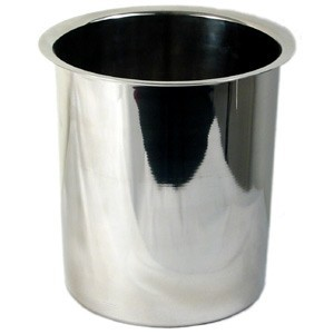 "Stainless Steel 8.25-Qt Bain Marie - 8"" Dia. x 9-3/4"" Deep"
