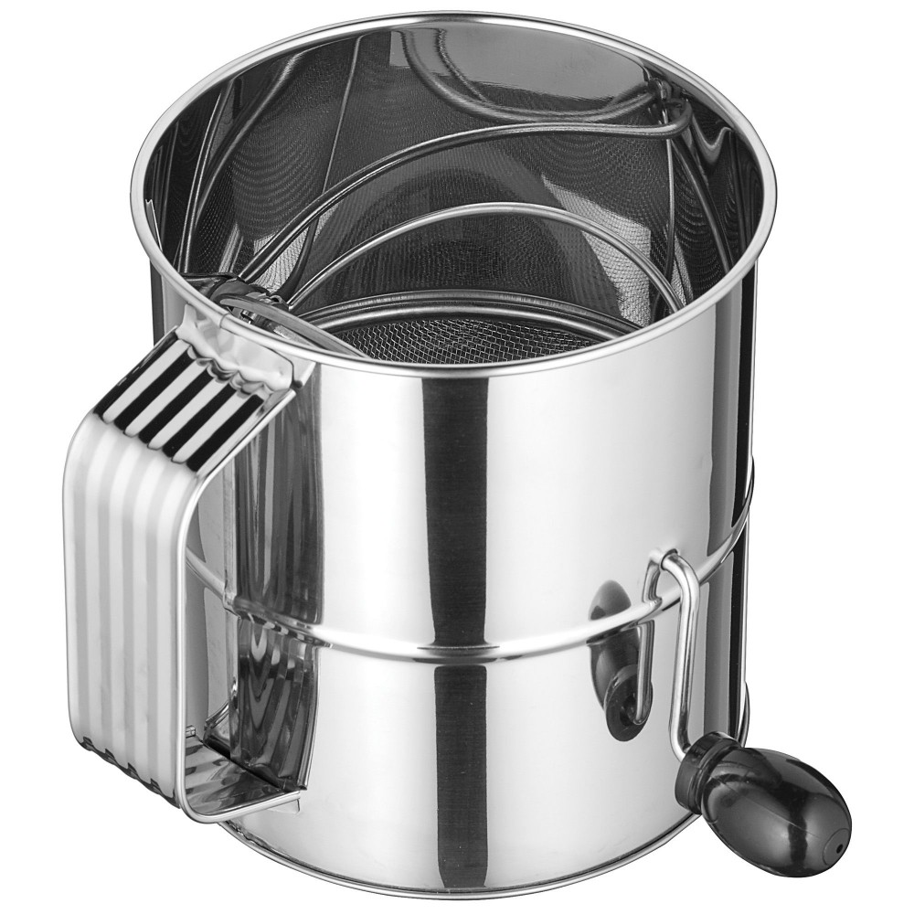 Winco RFS-8 Stainless Steel 8-Cup Rotary Sifter