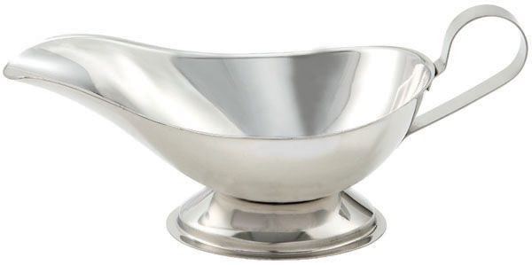 Winco GBS-8 Stainless Steel 8 oz. Gravy Boat