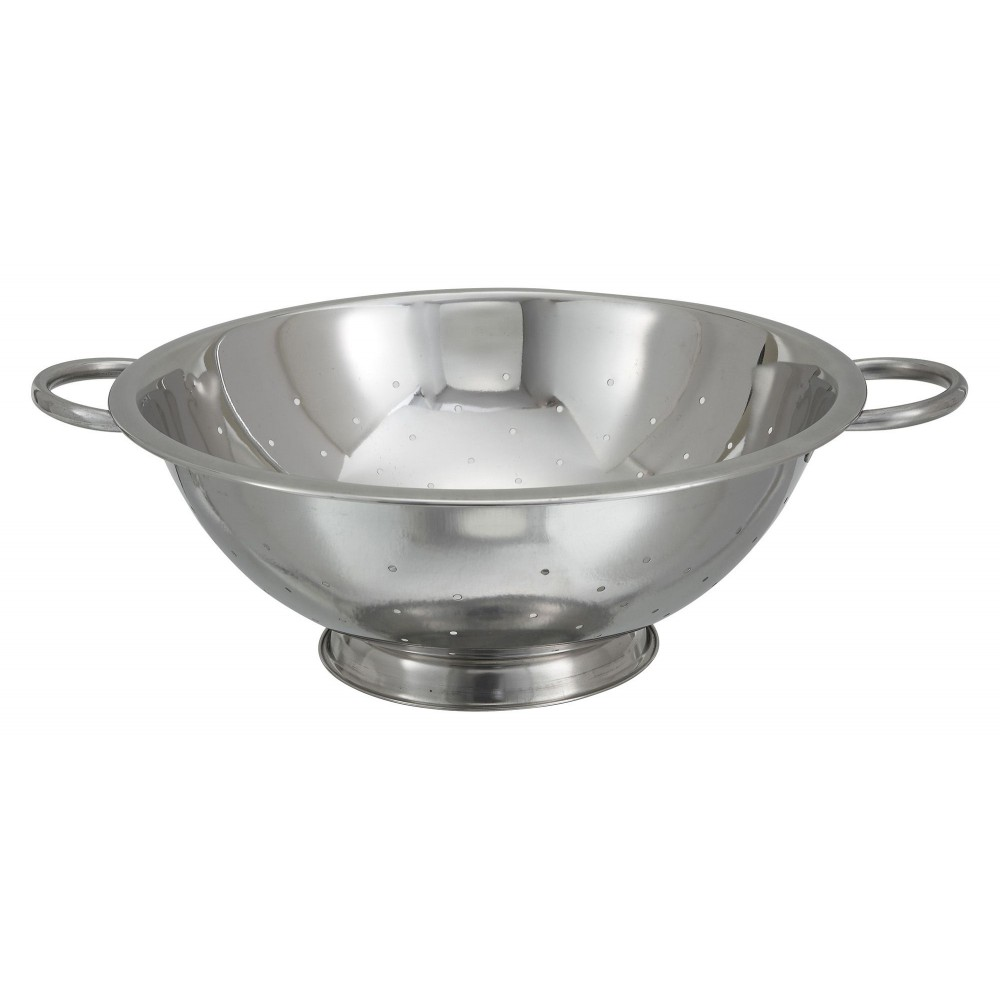 Stainless Steel 8-Qt Colander - 14 Dia.