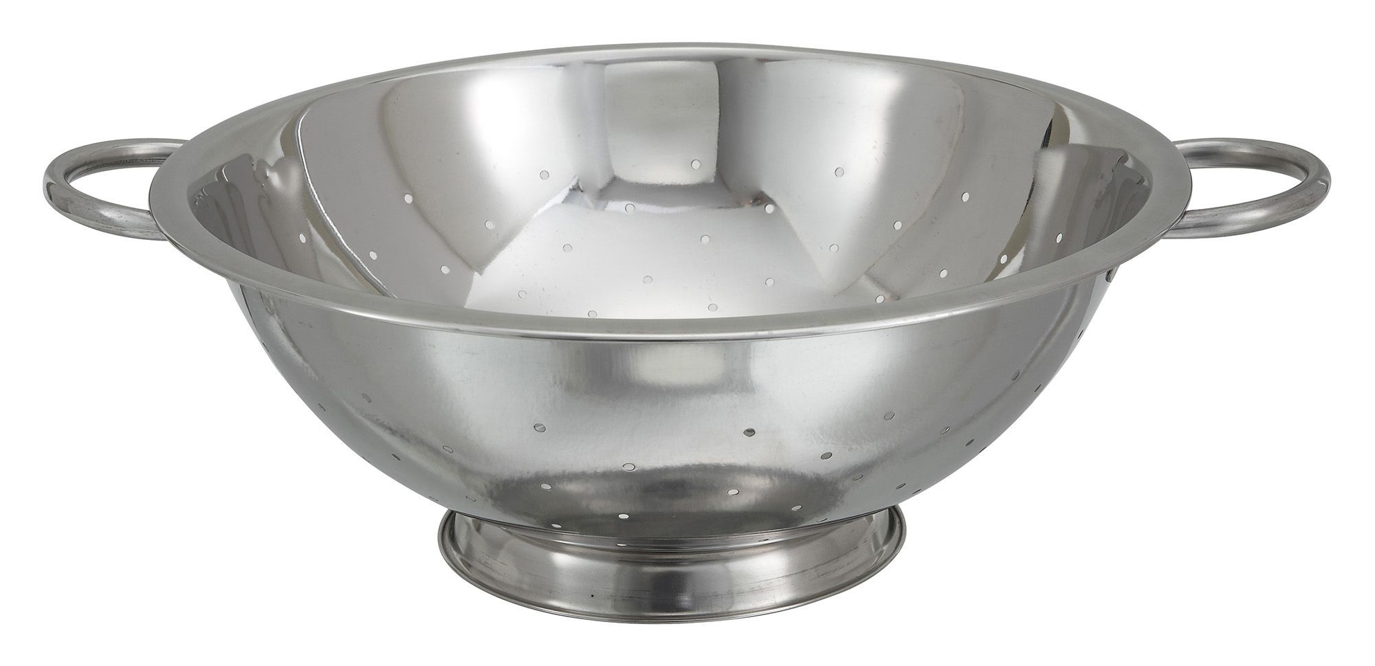 Winco COD-8 Stainless Steel 8 Qt. Colander 14""