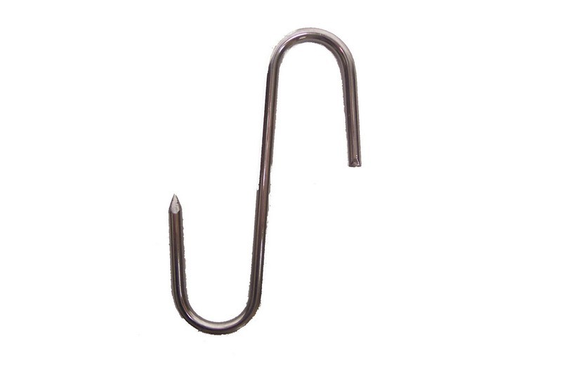 Stainless Steel 9 Mm. Gauge Meat Hook - 7-7/8