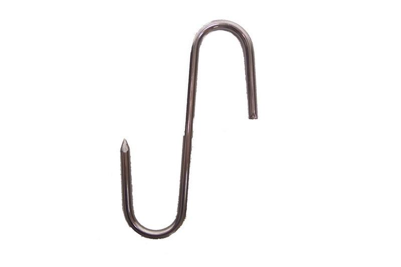 Stainless Steel 9 Mm. Gauge Meat Hook - 8-11/16