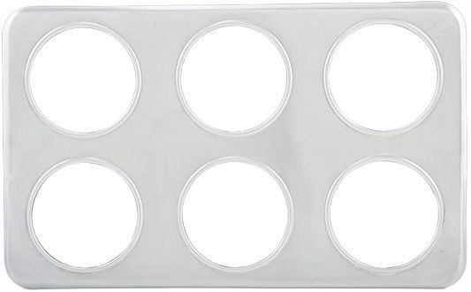 "Winco ADP-444 Stainless Steel Adapter Plate with Six 4-3/4"" Holes"