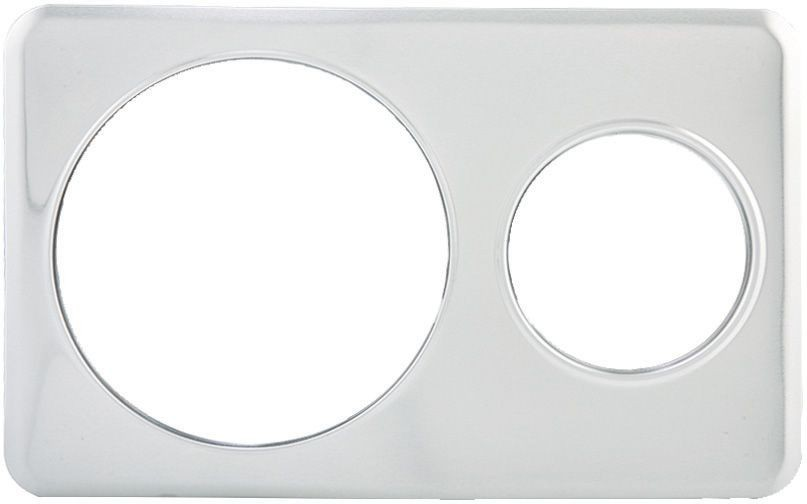 """Winco ADP-610 Stainless Steel Adapter Plate with One 6-3/8"""" & One 10-3/8""""H ole"""