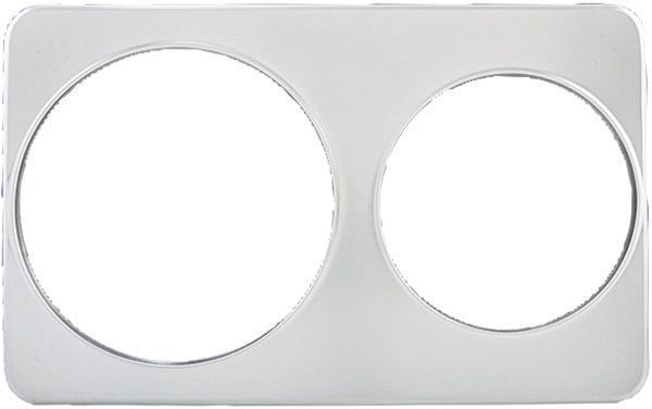 """Winco ADP-810 Stainless Steel Adapter Plate with Two 8-3/8"""" & One 10-3/8"""" Holes"""