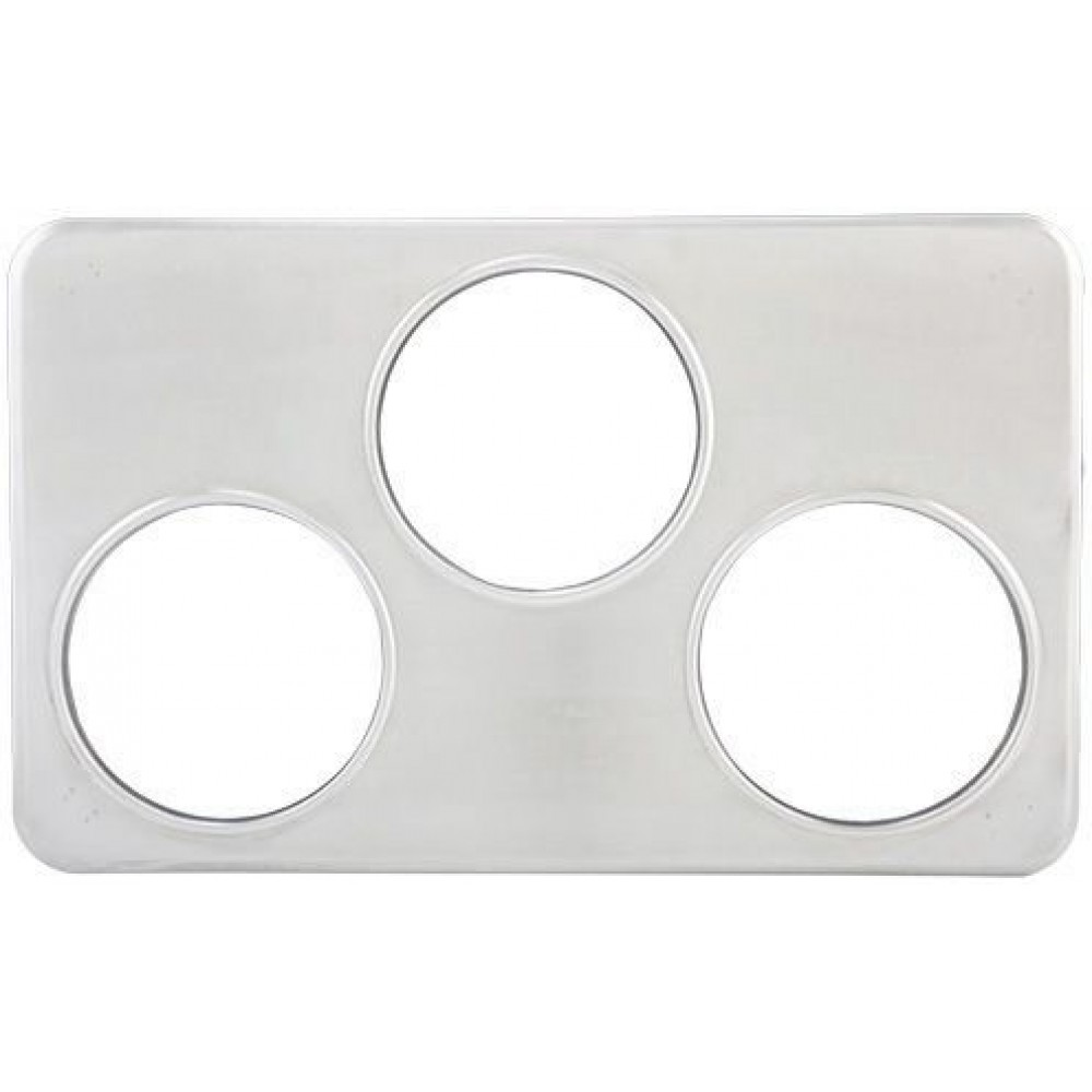 Stainless Steel Adapter Plate With Three 6-3/8 Holes