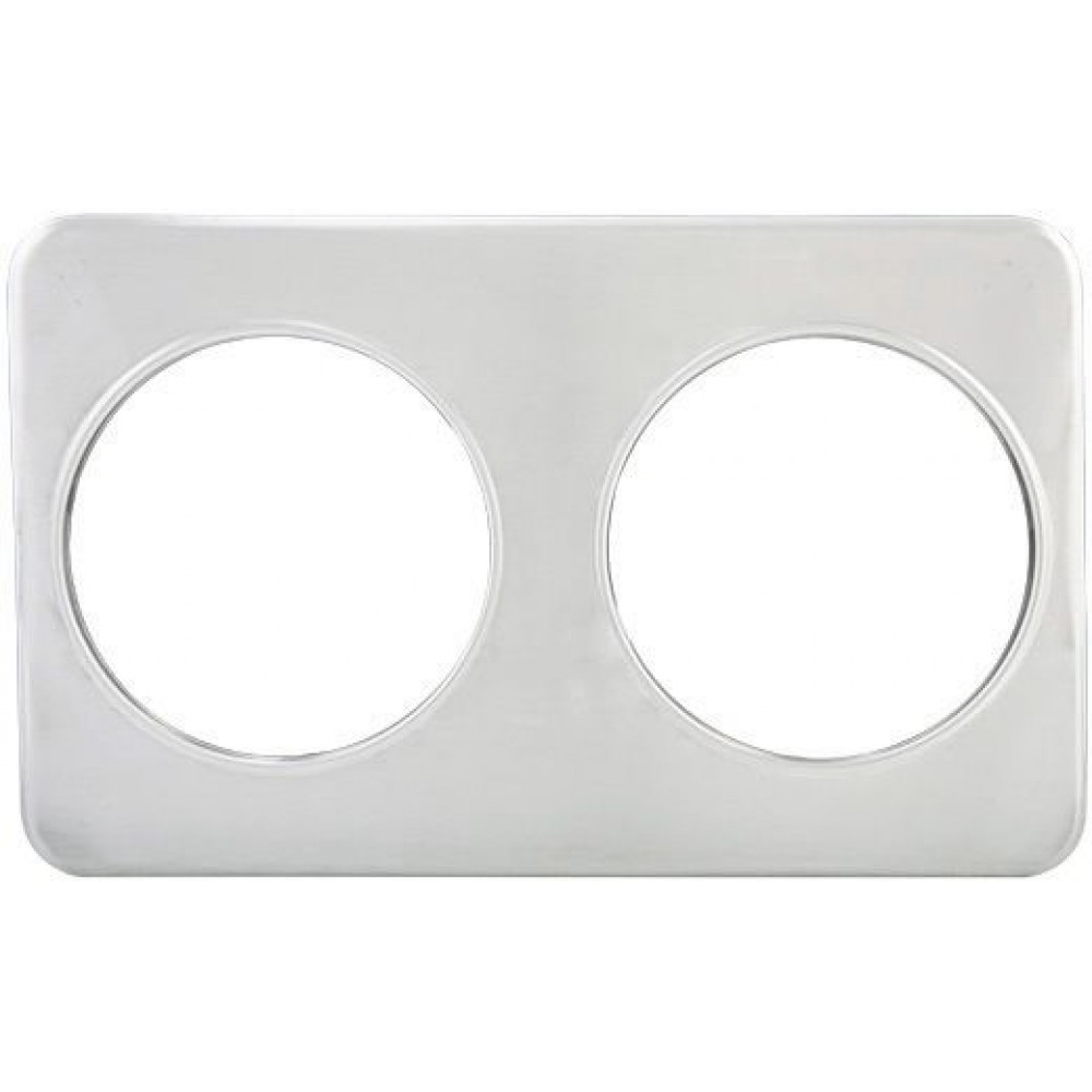 "Winco ADP-808 Stainless Steel Adapter Plate with Two 8-3/8"" Holes"