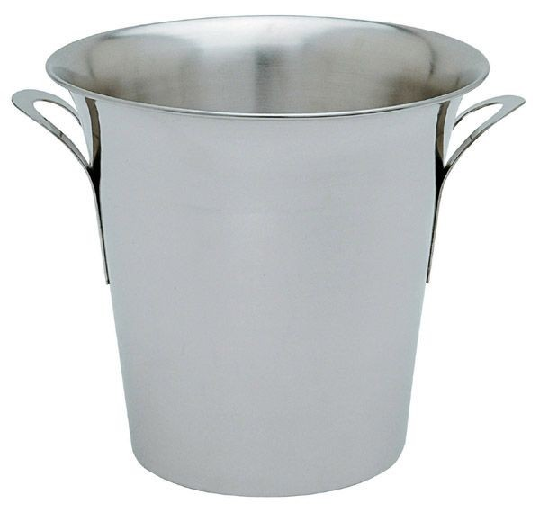 "Johnson-Rose 7894 Stainless Steel Champagne/Wine Bucket 8-1/2""H"