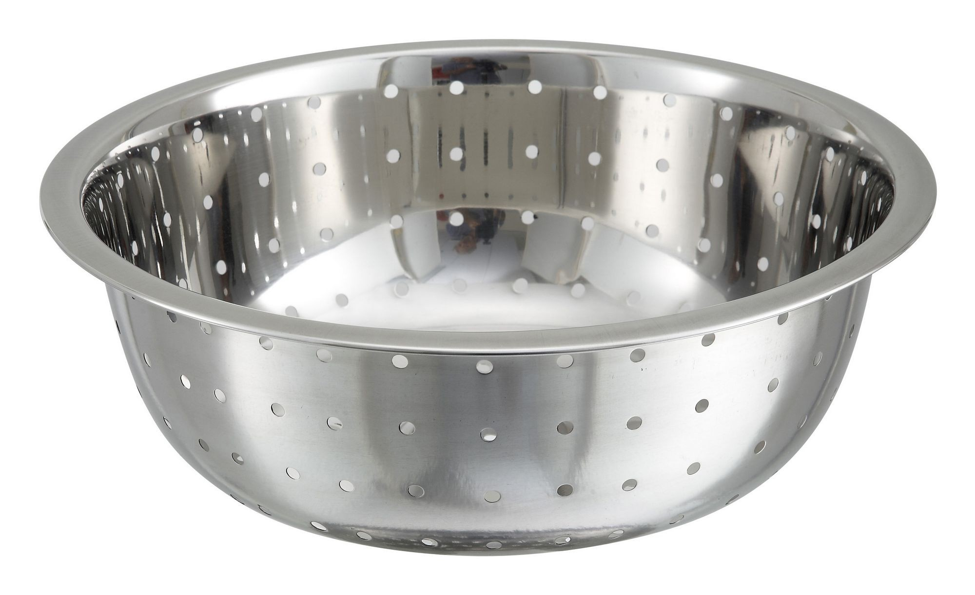 Winco CCOD-11L Stainless Steel Chinese Colander with 5 mm Holes 11""
