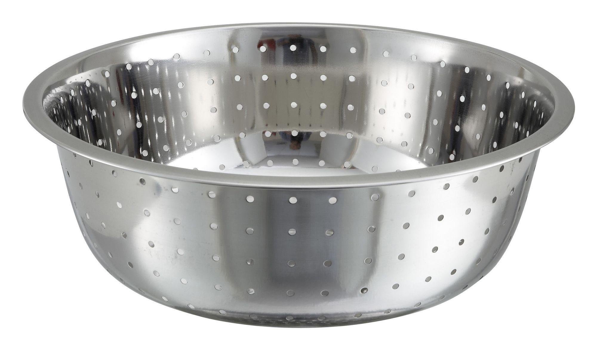 Winco CCOD-15L Stainless Steel Chinese Colander with 5 mm Holes 15""