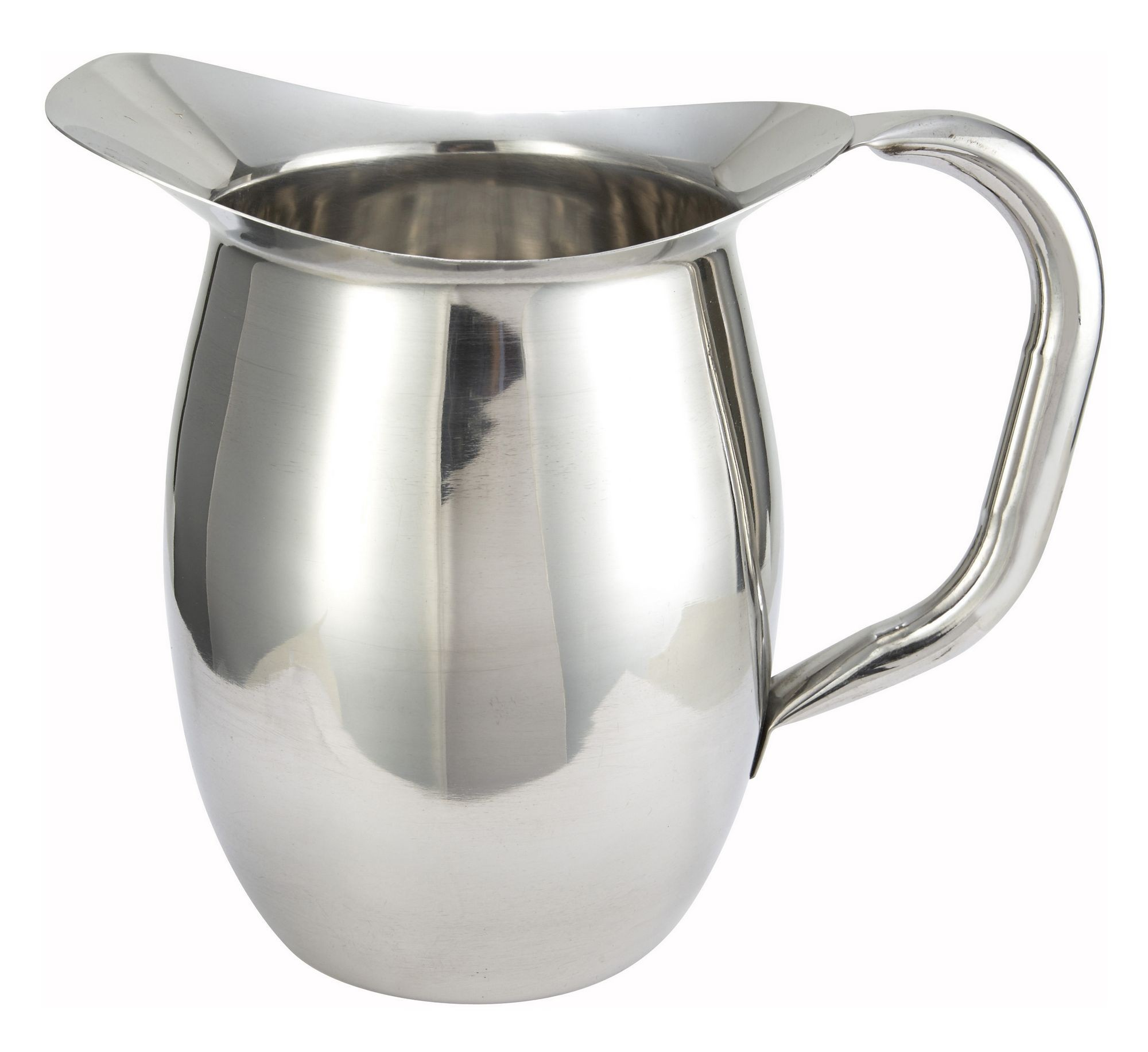 Winco WPB-2 Stainless Steel Deluxe 2 Qt. Bell Water Pitcher