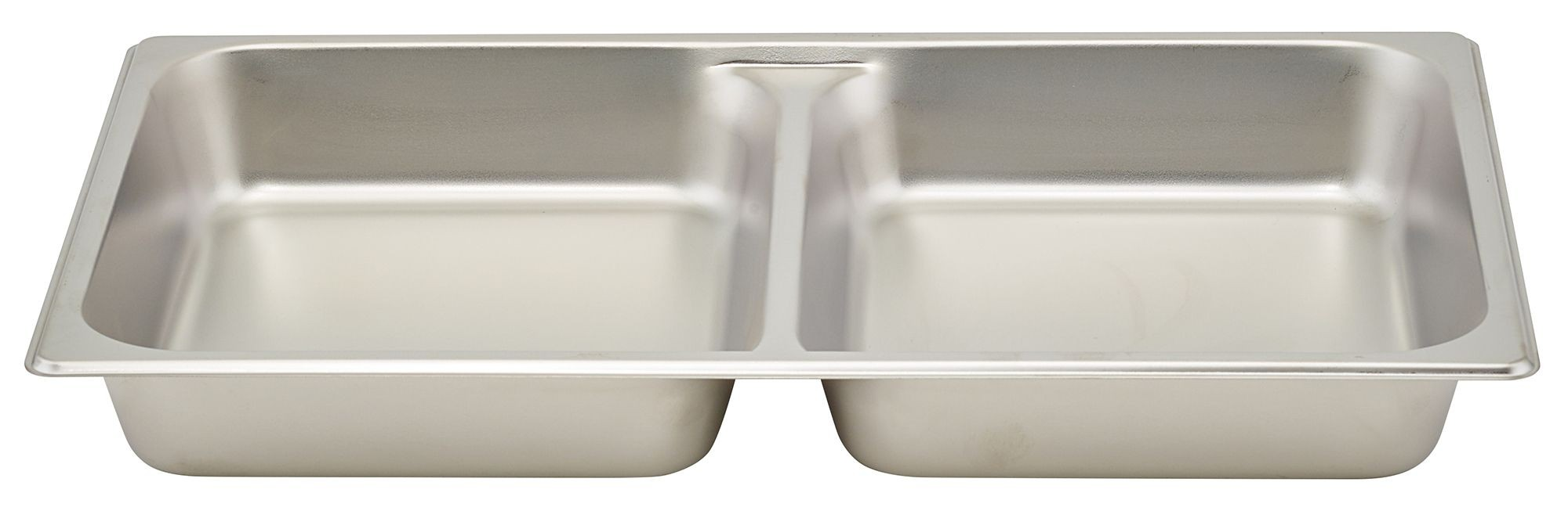 "Winco SPFD2 Stainless Steel Divided Full-Size Steam Table Pan 2-1/2"" Deep"