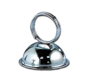 Stainless Steel Dome Shape Menu Clip/Card Holder
