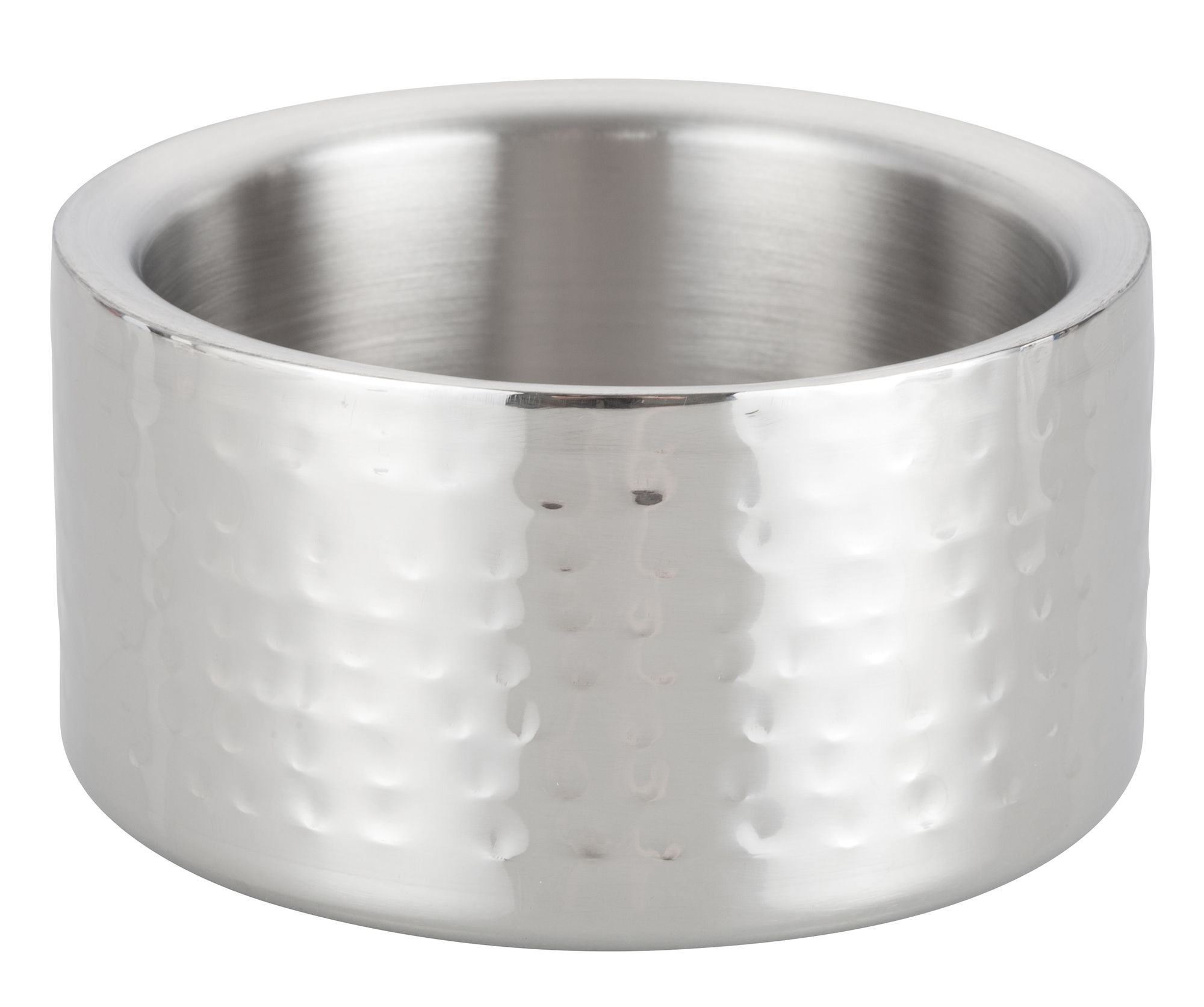 """Winco DWCC-5H Stainless Steel Double Wall Hammered Wine Coaster 5"""" Dia."""