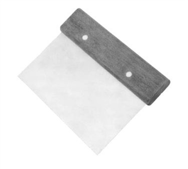 "Franklin Machine Products  137-1022 Stainless Steel Dough Scraper with Handle 4"" x 6"""