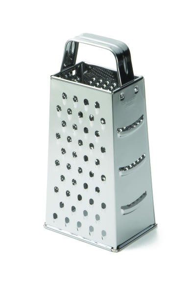 "TableCraft SG200 Stainless Steel Economy Grater 3"" x 4"" x 9"""