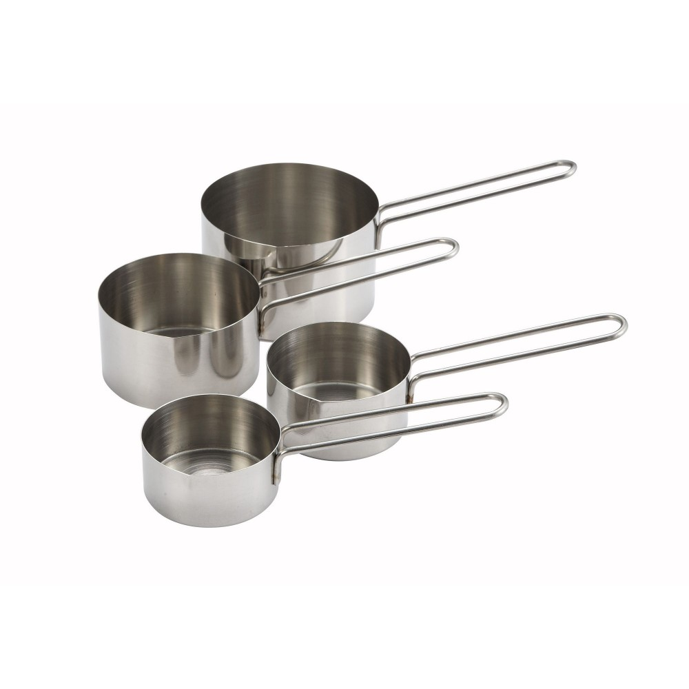 4-Piece Stainless Steel Measuring Cup Set