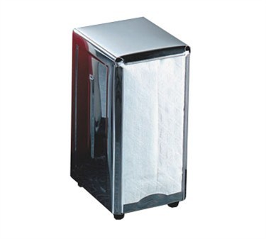 TableCraft 221 Stainless Steel Full Size Napkin Dispenser