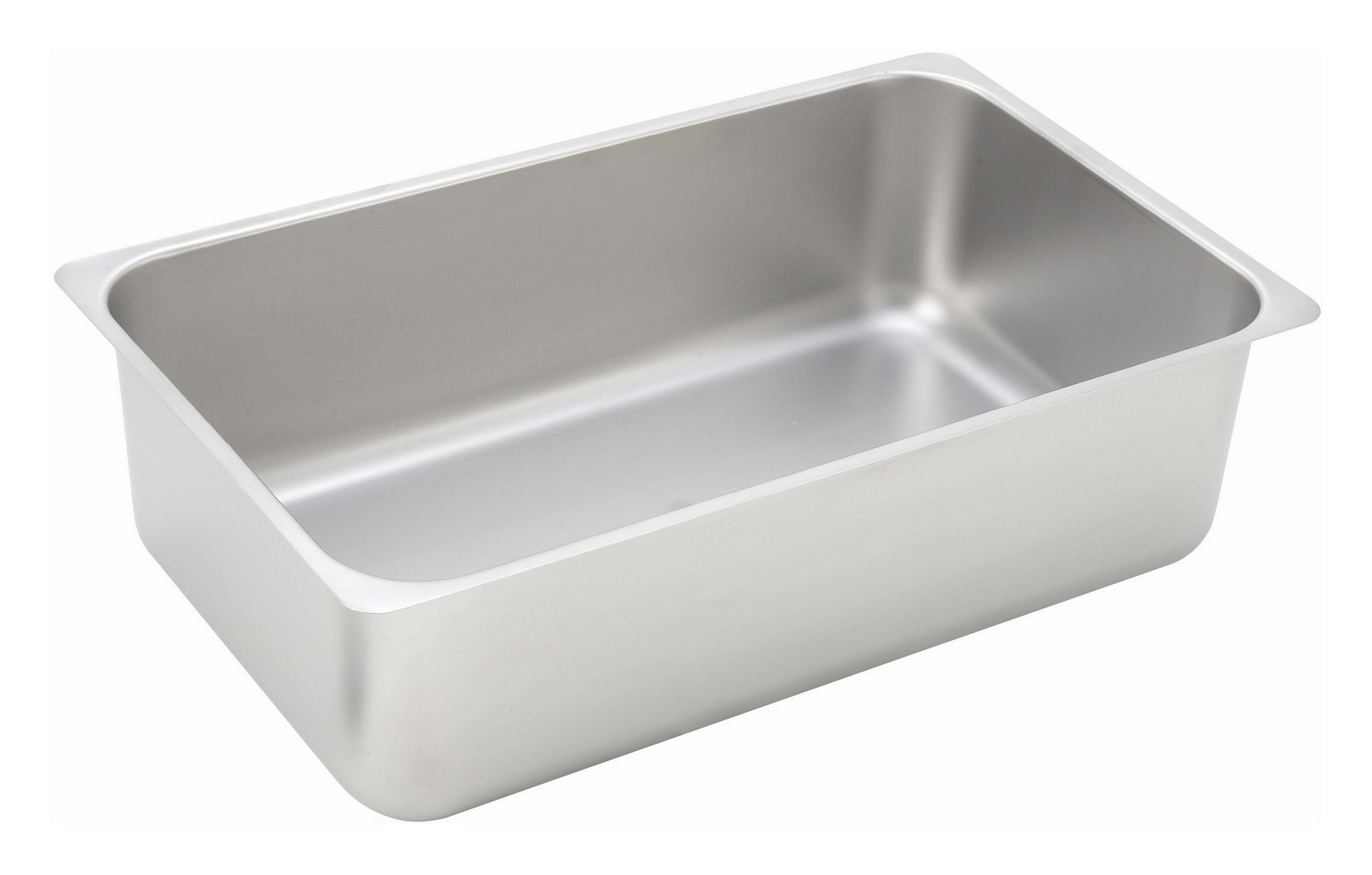 """Winco C-WPP Full Size Stainless Steel Spillage Pan 6"""" Deep"""