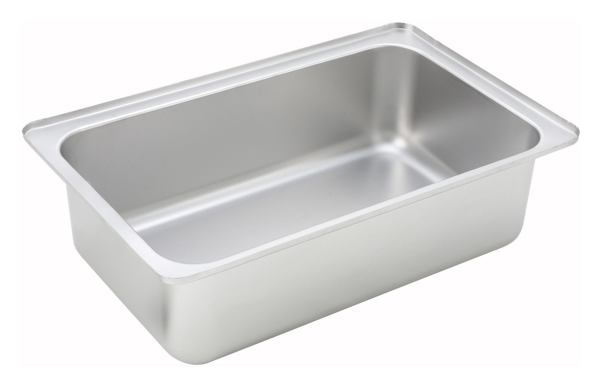 "Winco C-WPF6 Full Size Stainless Steel Dripless Water Pan 6"" Deep"