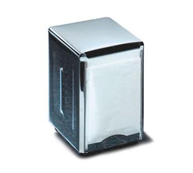 TableCraft 219 Stainless Steel Half Size Napkin Dispenser